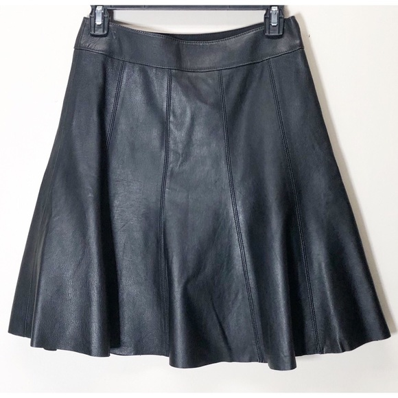 White House Black Market Dresses & Skirts - White House Black Market Leather fit flare skirt 0